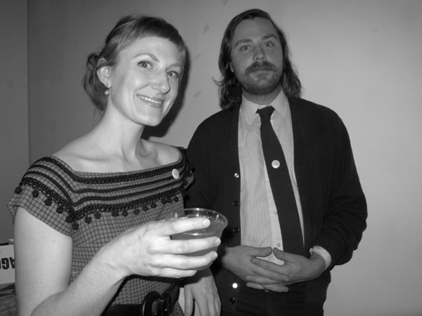 Artists Alicia Chester and Philip Kaufmann