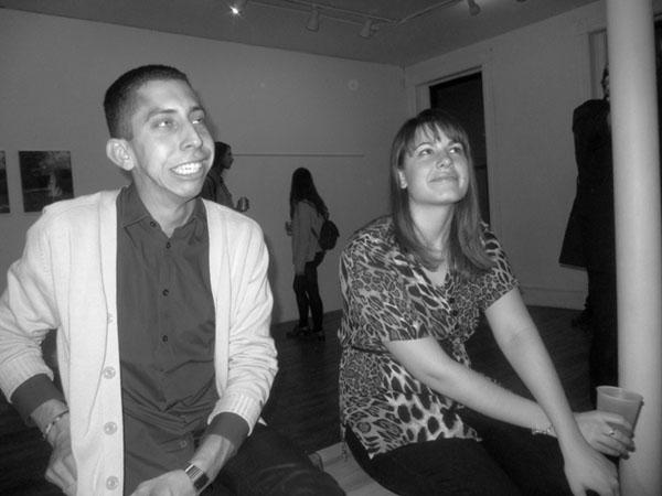 Gallerist Vincent Uribe and Allison Kilberg